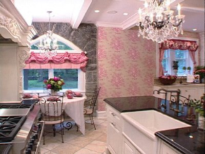 Pink girly kitchen wallpaper photo - 2