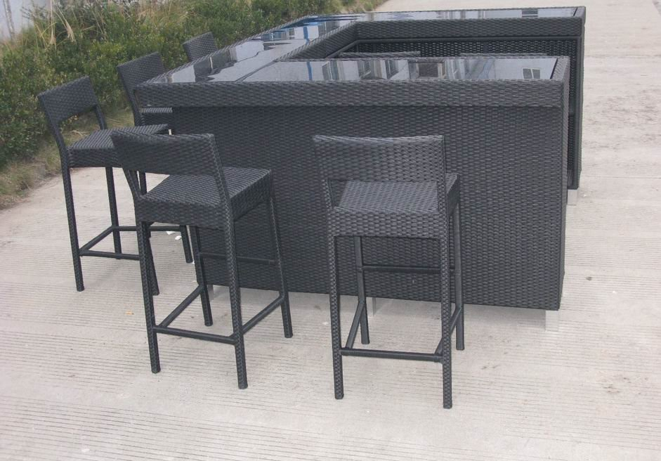 Rattan Bar Table photo - 3