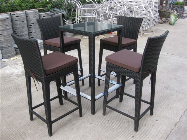 Rattan Bar Table photo - 4