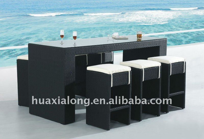 Rattan Bar Table photo - 5