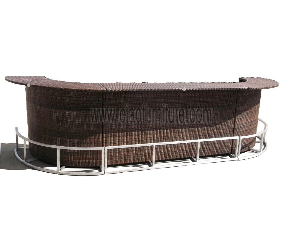 Rattan Bar Table photo - 6