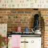Rustic Kitchen with Fruit and Vegetable Print Wallpaper photo - 1