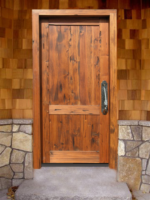 Wood single door design the image kid for Solid wood front doors