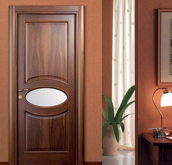 Solid Wood Single Door Design photo - 2