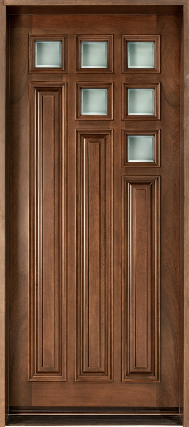 Solid Wood Single Door Design photo - 5