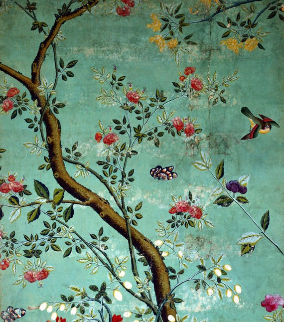 Wall with Chinese Wallpaper Design photo - 5