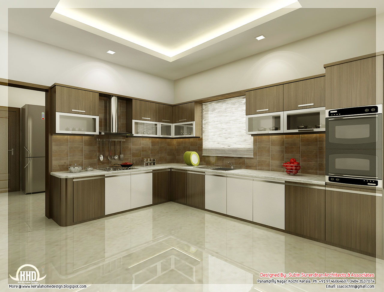White Model Kitchen Interior photo - 2