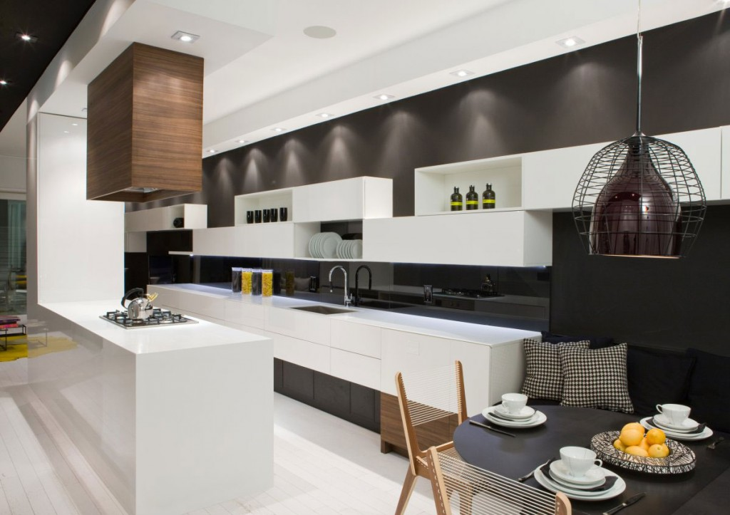 White Model Kitchen Interior photo - 4