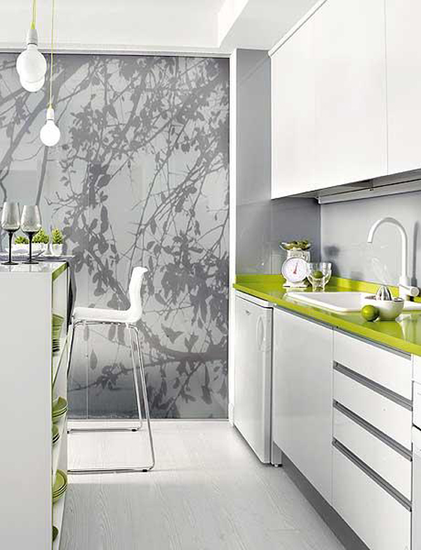 White Model Kitchen Interior photo - 5