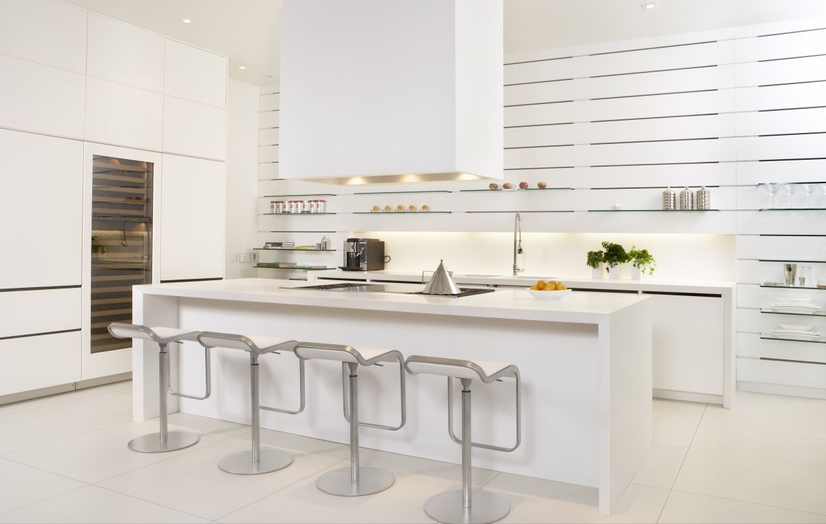 White Modern Kitchen photo - 3