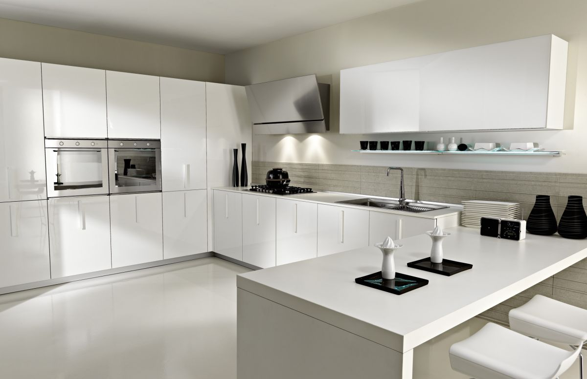 White Modern Kitchen photo - 5