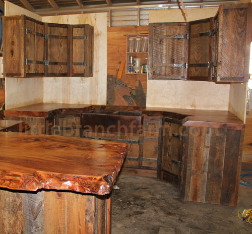 Wooden Rustic Kitchen Cabinets photo - 3