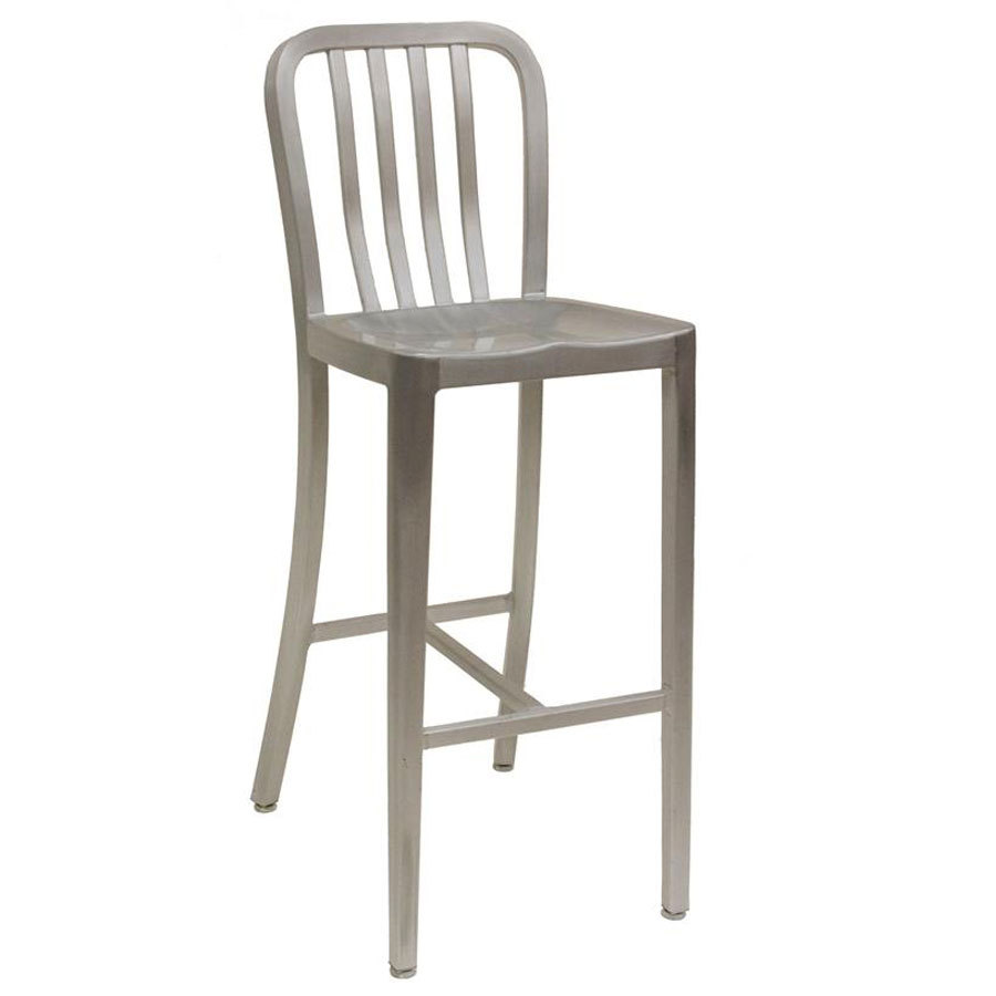 aluminum bar stools with backs photo - 1
