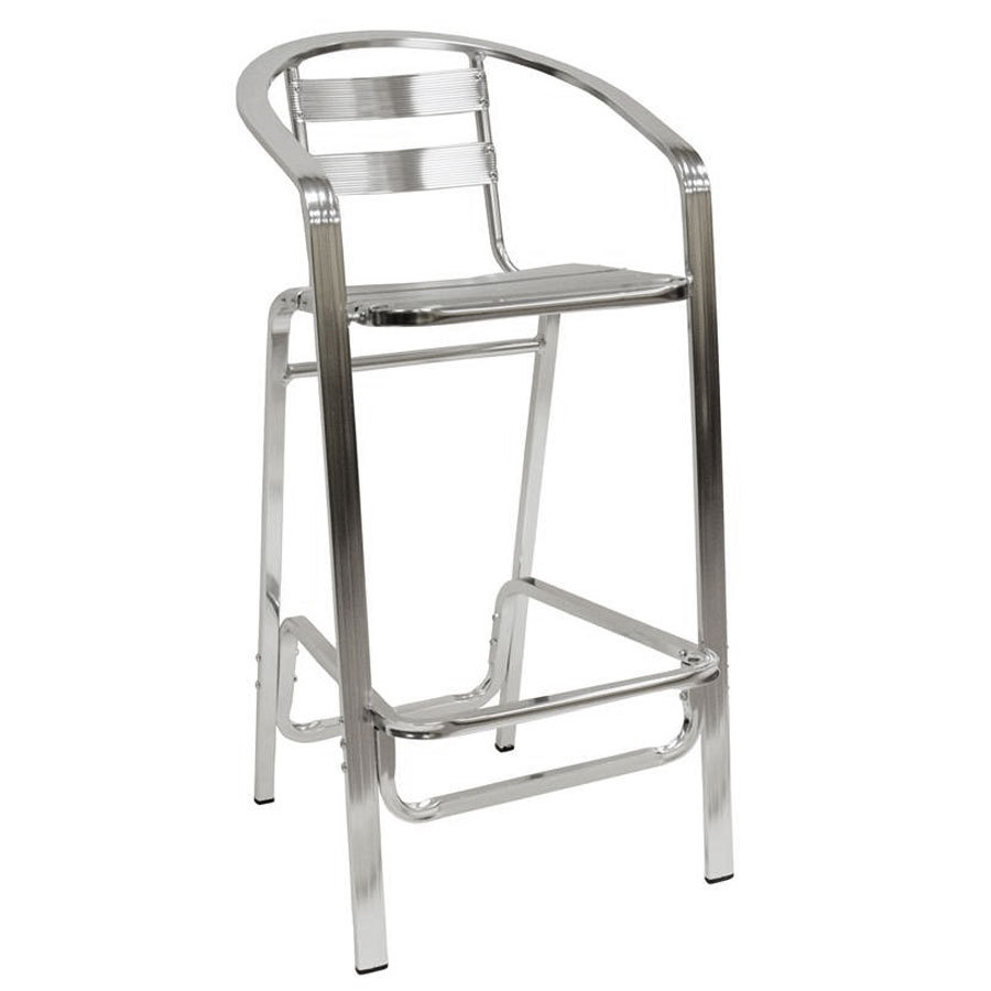 aluminum bar stools with backs photo - 2