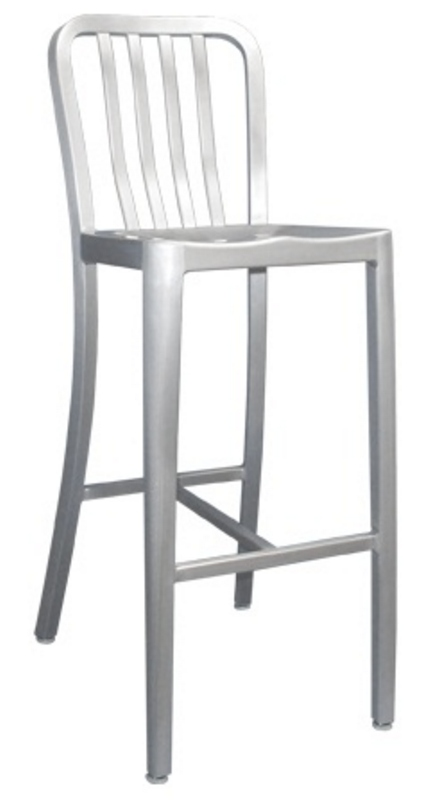 aluminum bar stools with backs photo - 3