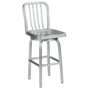 aluminum bar stools with backs photo - 5