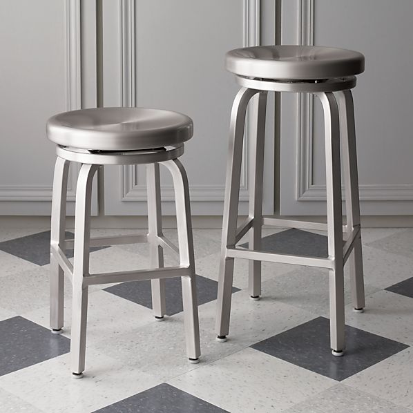 aluminum bar stools without backs photo - 2