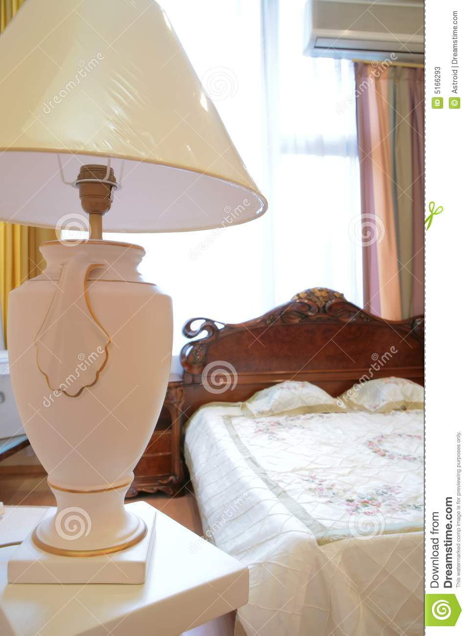 antique bedroom lamp photo - 2