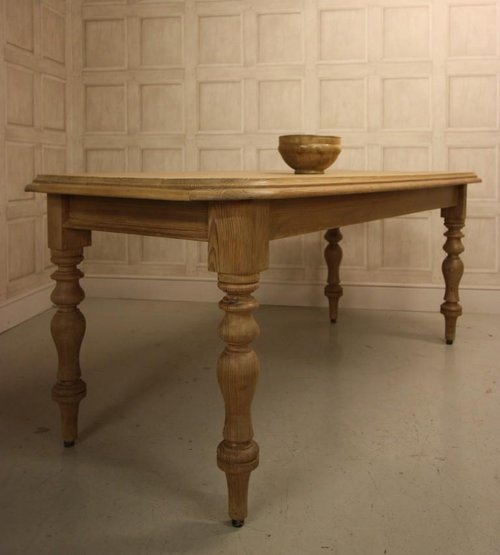 antique kitchen dining table photo - 3