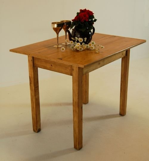 antique kitchen dining table photo - 4