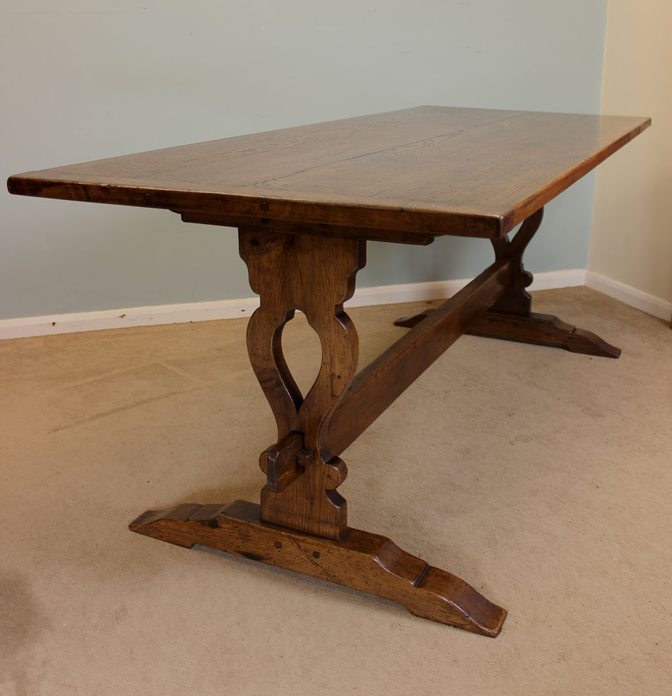 antique kitchen dining table photo - 5