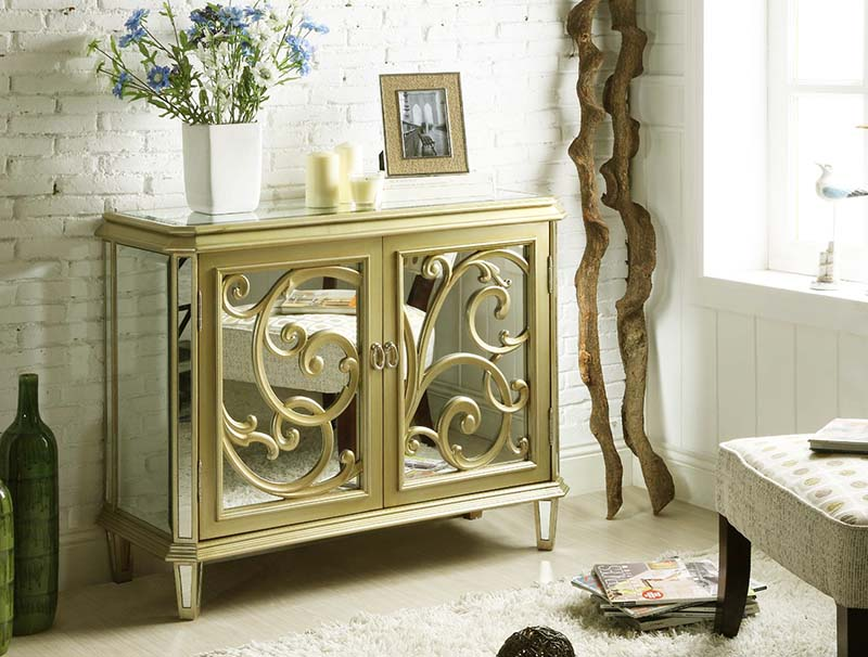 antique mirrored bedroom furniture photo - 3