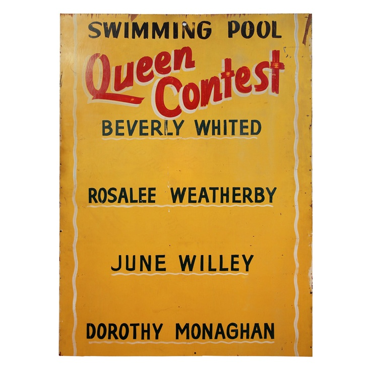 antique swimming pool signs photo - 1