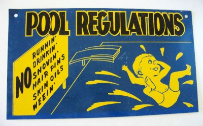 antique swimming pool signs photo - 6