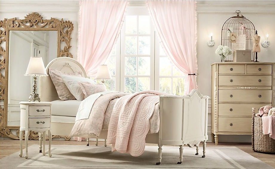 antique white bedroom furniture for girls photo - 3
