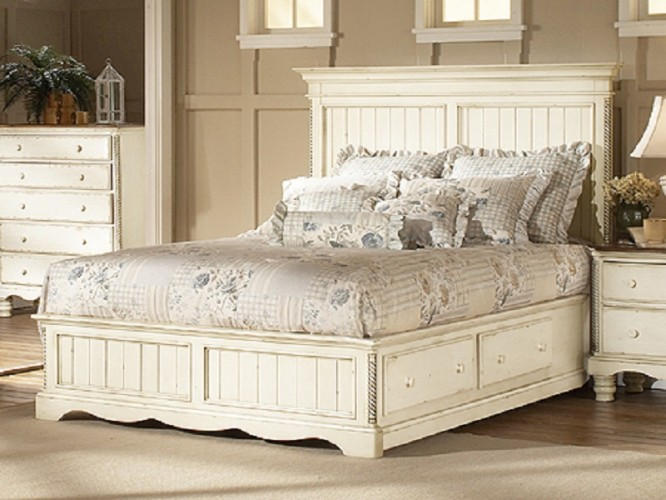 antique white bedroom furniture for girls photo - 5