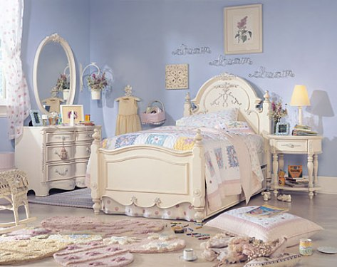 antique white bedroom furniture for girls photo - 6