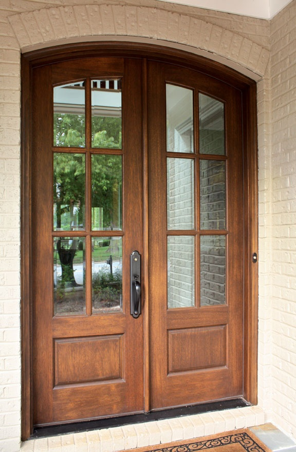 Arched french double doors interior exterior doors for Double french front doors