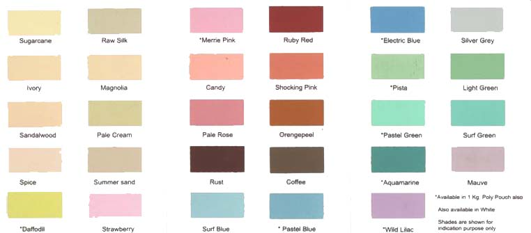 Asian paints colour chart exterior wall pdf home painting for Oil paint colors names