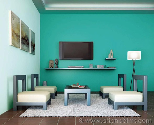 Asian paints colour shades for living room interior - Drawing room paint combination ...