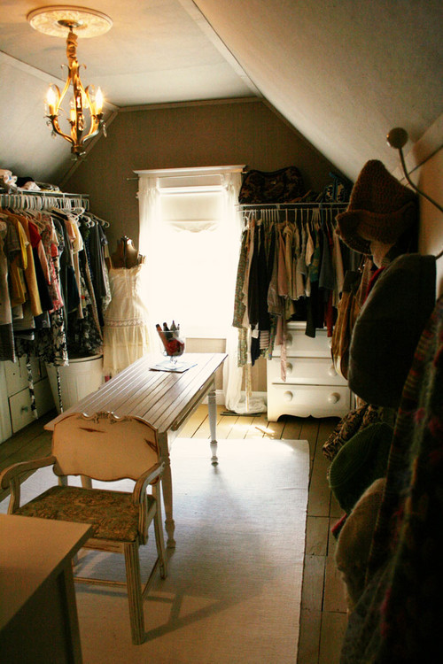attic walk in closet design photo - 4