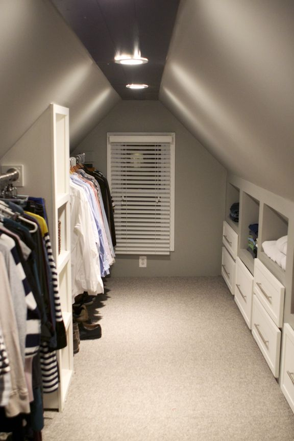 attic walk in closet design photo - 5