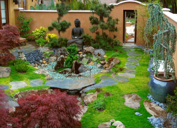 backyard japanese garden design ideas photo - 4