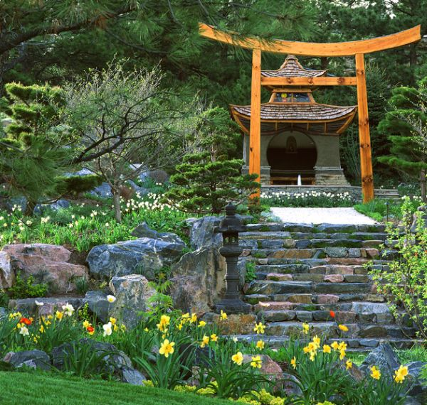 backyard japanese garden design ideas photo - 6