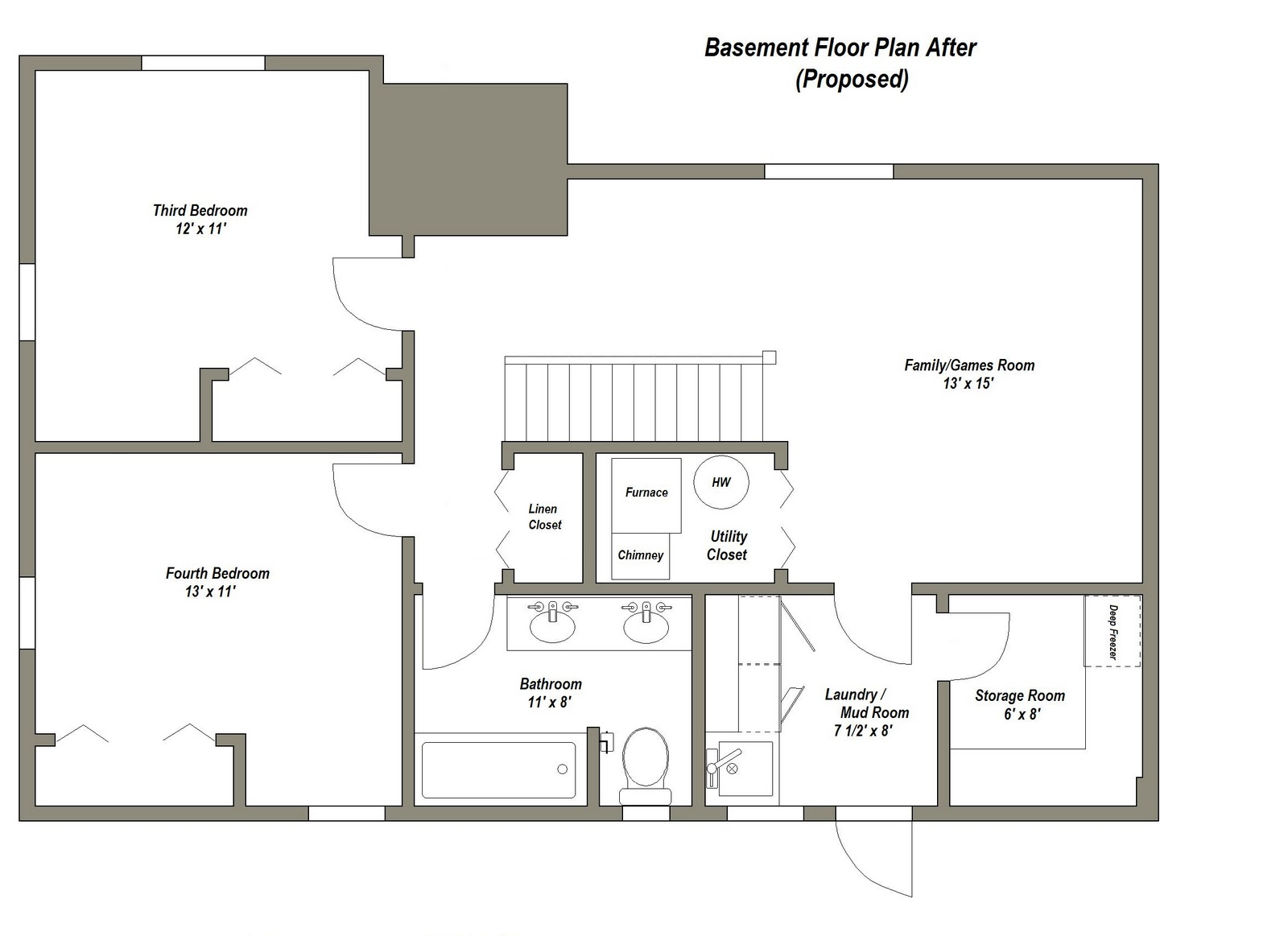 basement apartment plans ideas photo - 3