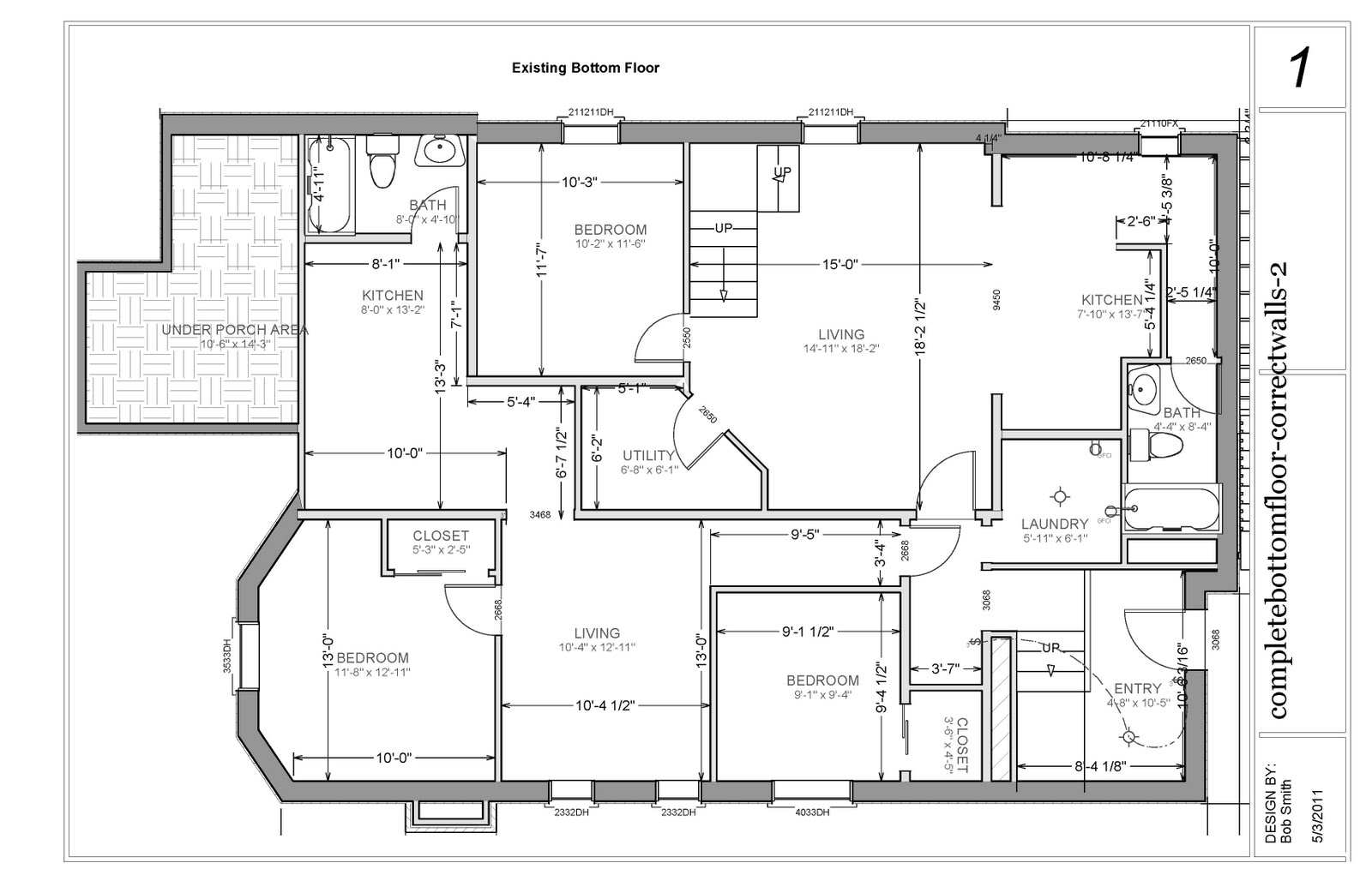 basement apartment plans ideas photo - 5
