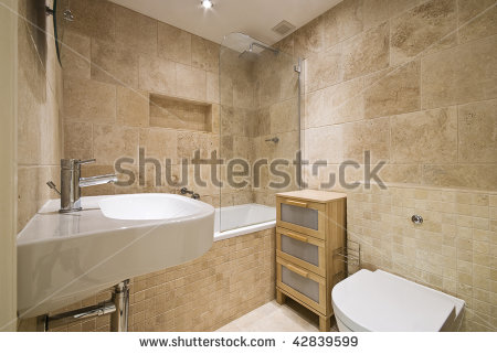 bathroom designs with marble tiles photo - 1