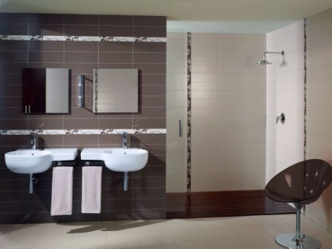 bathroom tile designs contemporary photo - 1