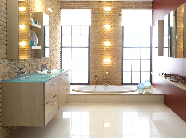 bathroom tile designs contemporary photo - 6