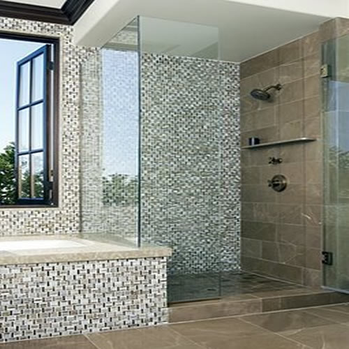 bathroom tile designs glass mosaic interior exterior doors