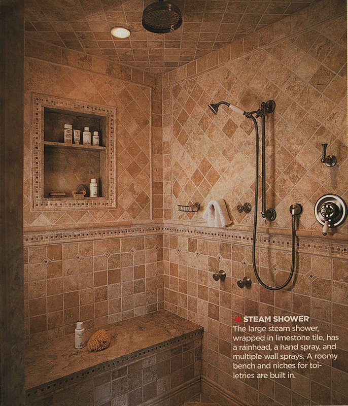 bathroom tile designs layout photo - 2