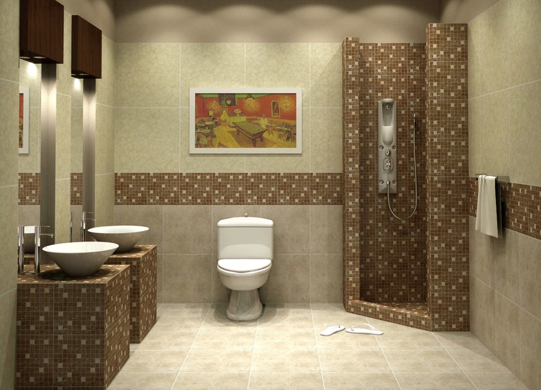 bathroom tile designs mosaic photo - 1