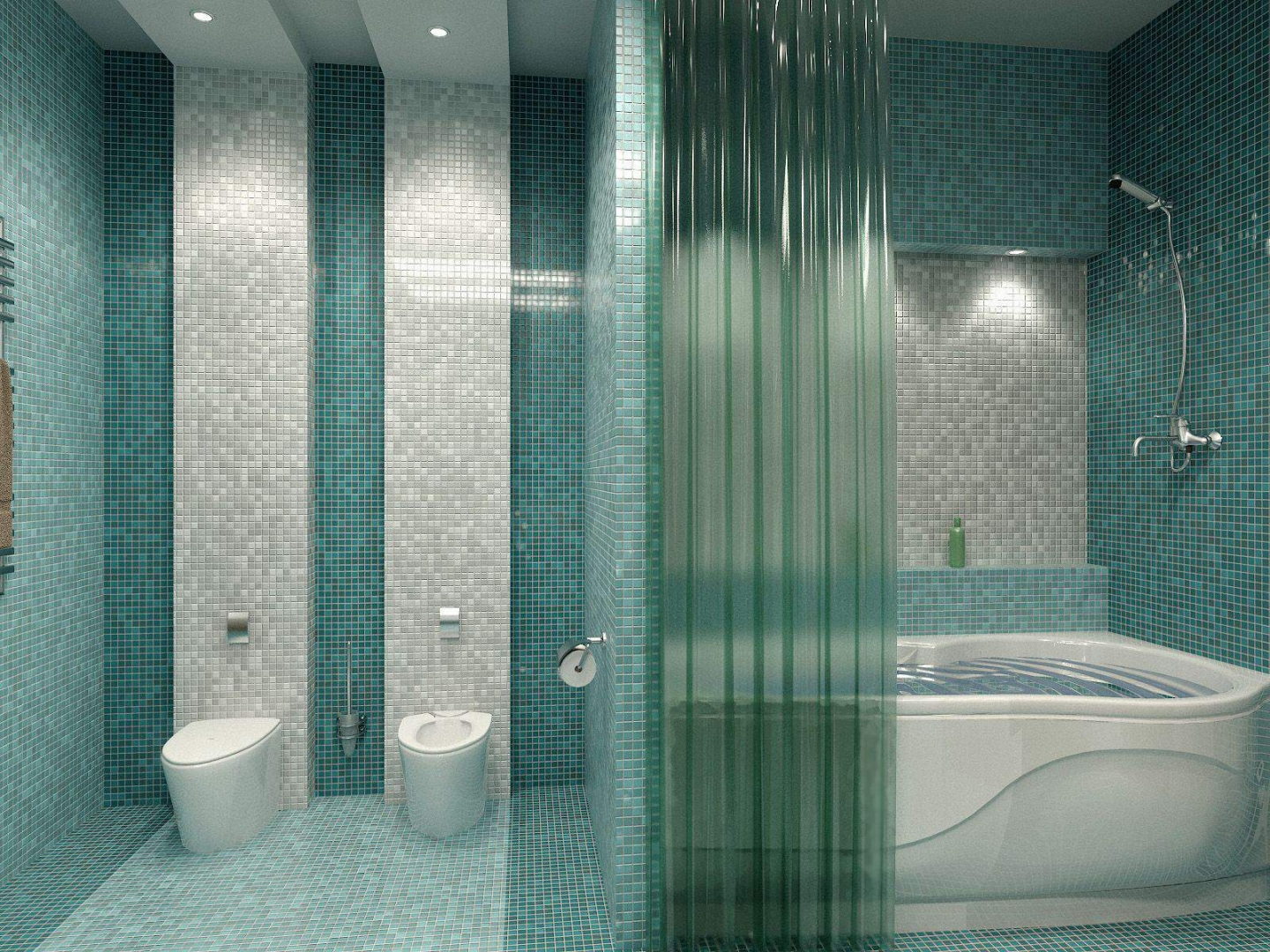 Innovative Purple And Turquoise Colour Schemes For Small Bathrooms, Light Turquoise Colors For Bathroom Design Ideas, Small Bathroom Tiles Turquoise Colors Feel Relaxing And Calming Turquoise, Which Is Blue And Green Colors Mix, Bathroom