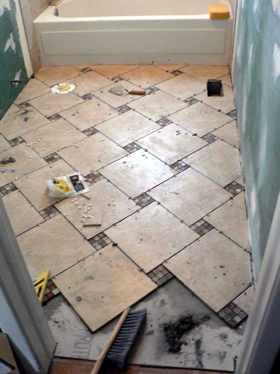 Bathroom Tiles Laying Design Interior Exterior Doors - Laying bathroom tile