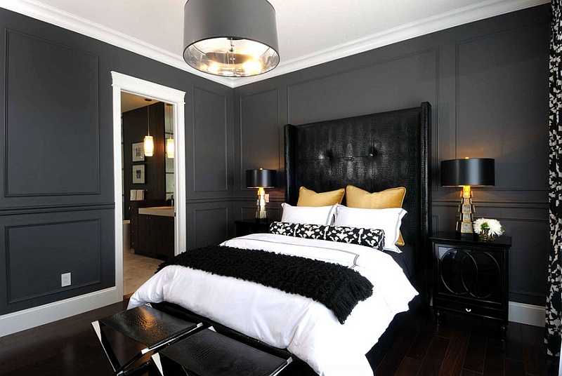 bedroom black furniture paint colors photo - 1