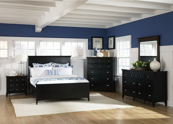 bedroom black furniture paint colors photo - 6
